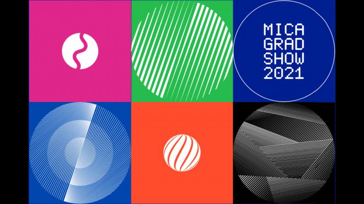 MICA GRAD SHOW 2021 marketing graphic