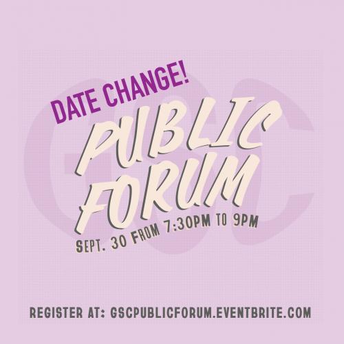 Public Forum Poster
