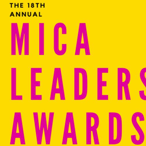 Yellow MICA Leadership Awards Banner