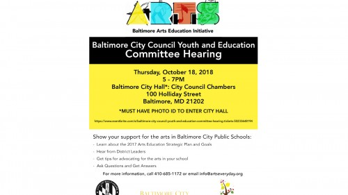 Baltimore City Council Youth Education Committee Hearing Mica