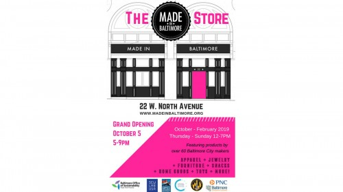 February 2019 Event Calendar Baltimore Made in Baltimore Pop Up Shop: Grand Opening!   MICA