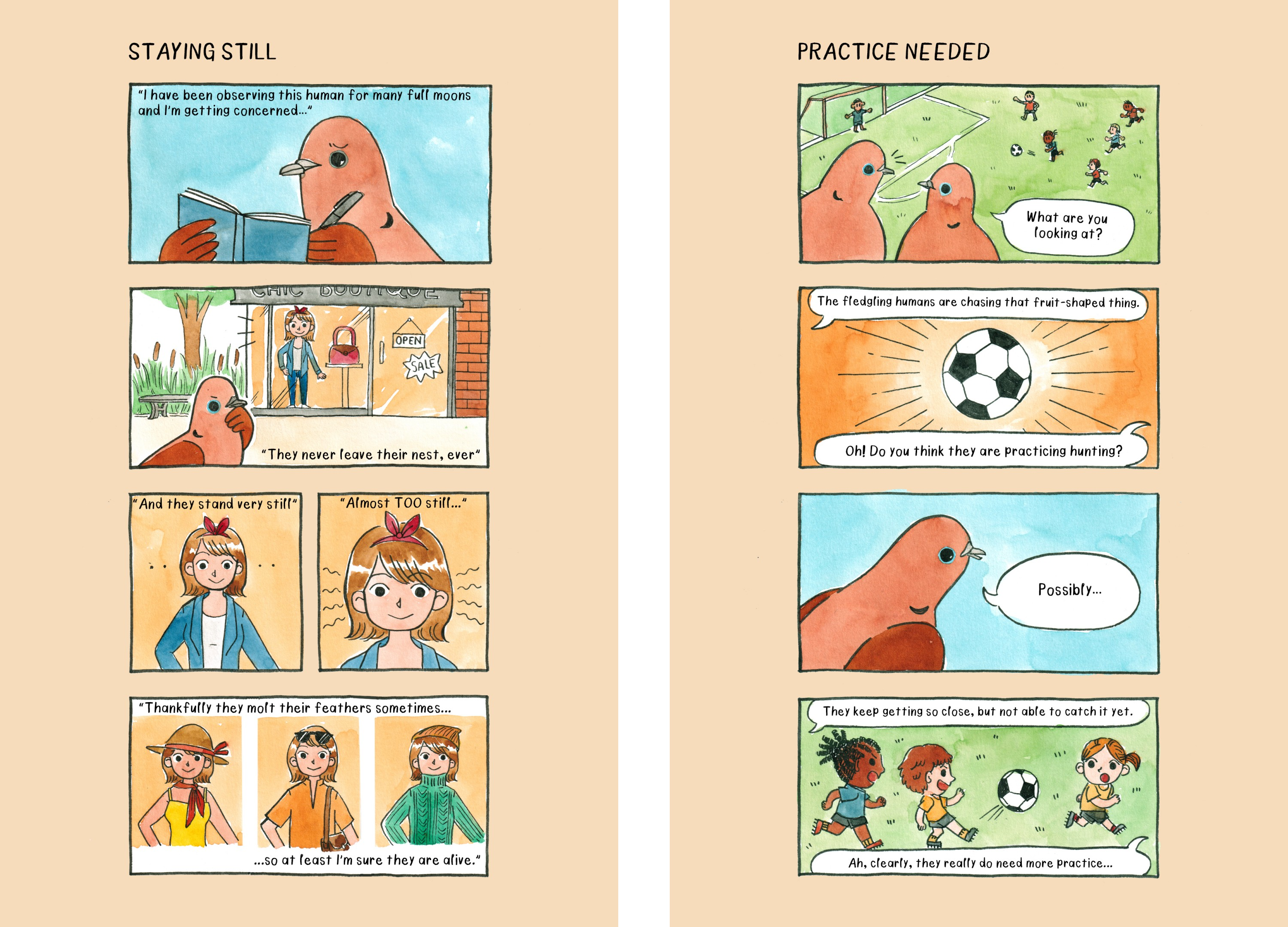 Comic strips from the book