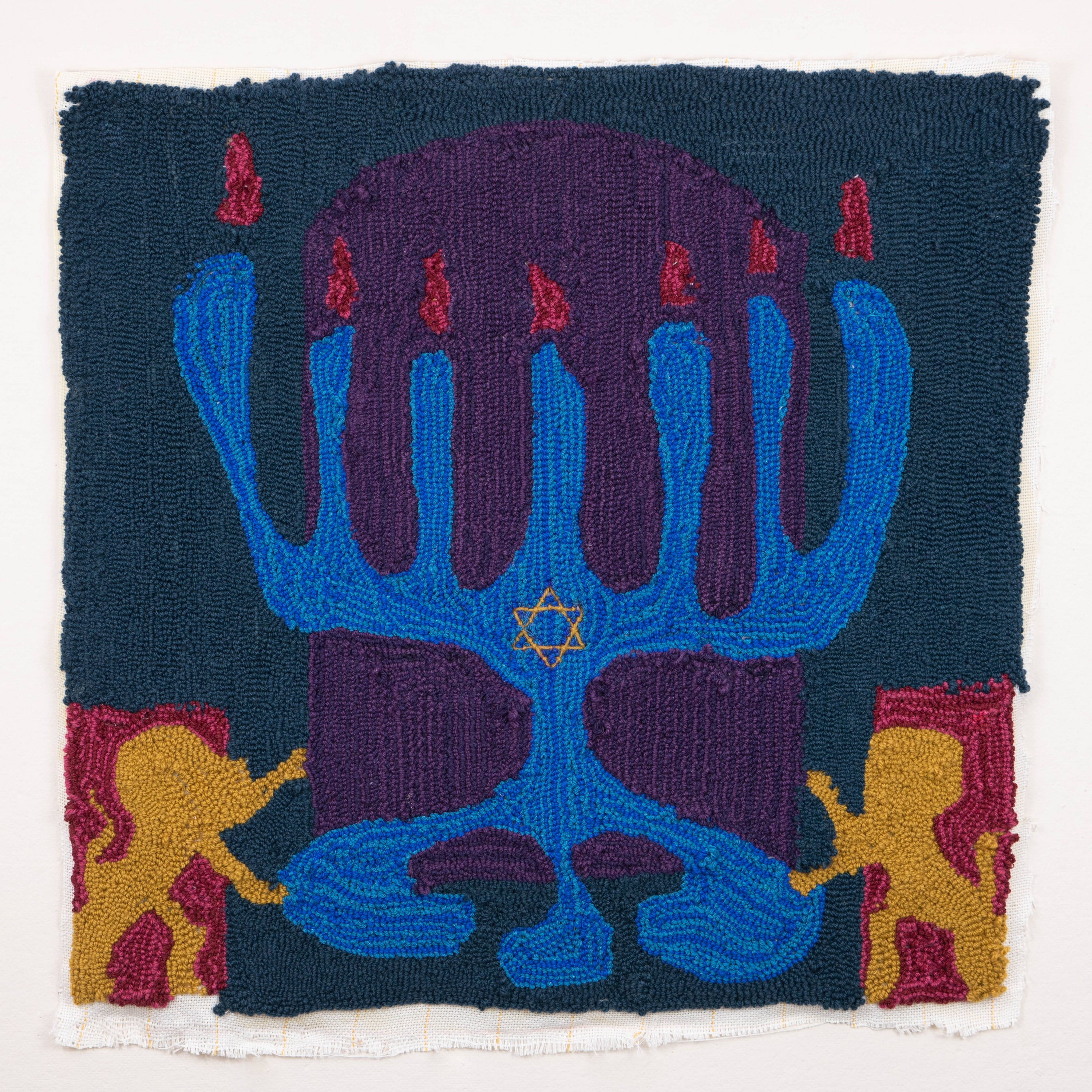 Blob Menorah Curtain by Jason Greenberg