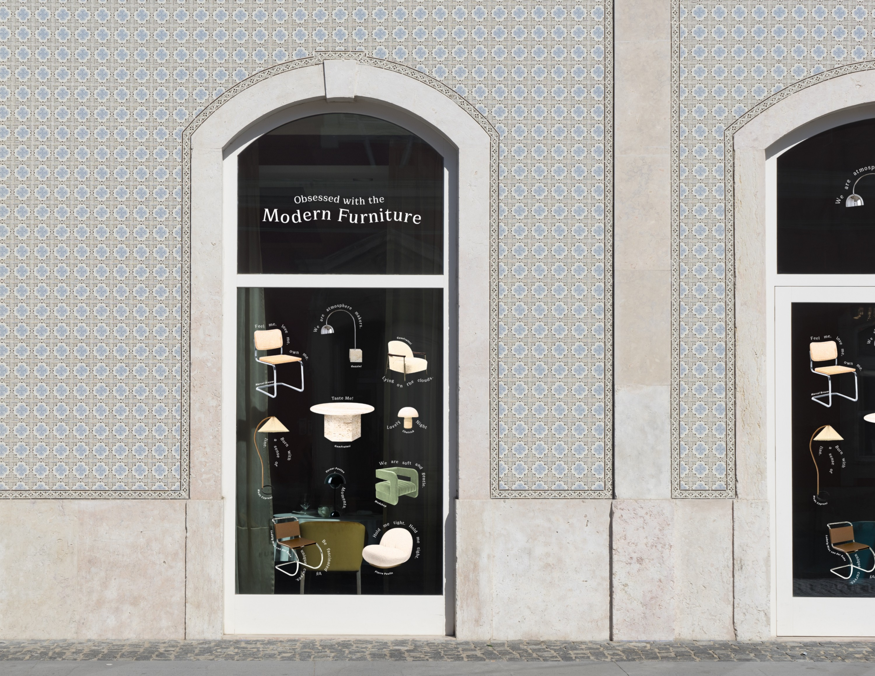 This is an image showing the furniture illustration on the window.