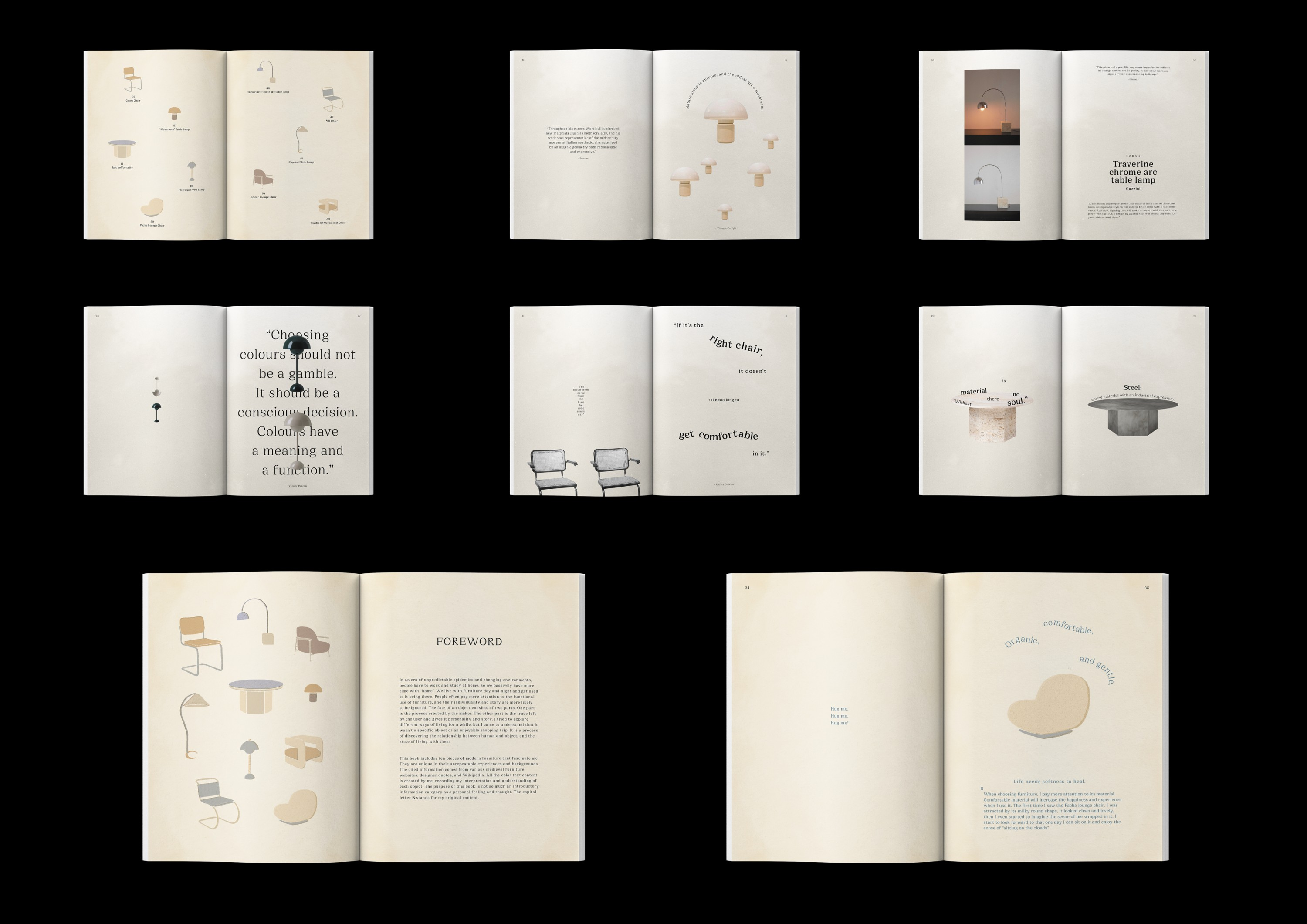 This is an image about showing the interior pages of Casatopia zine.
