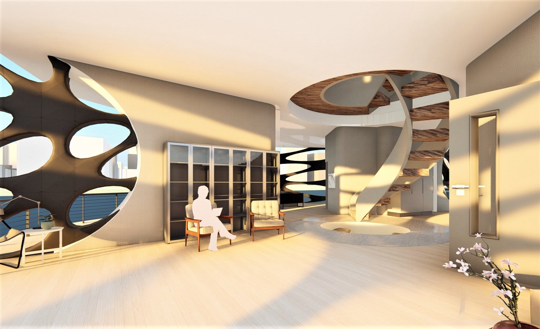 This is a interior Render of the building