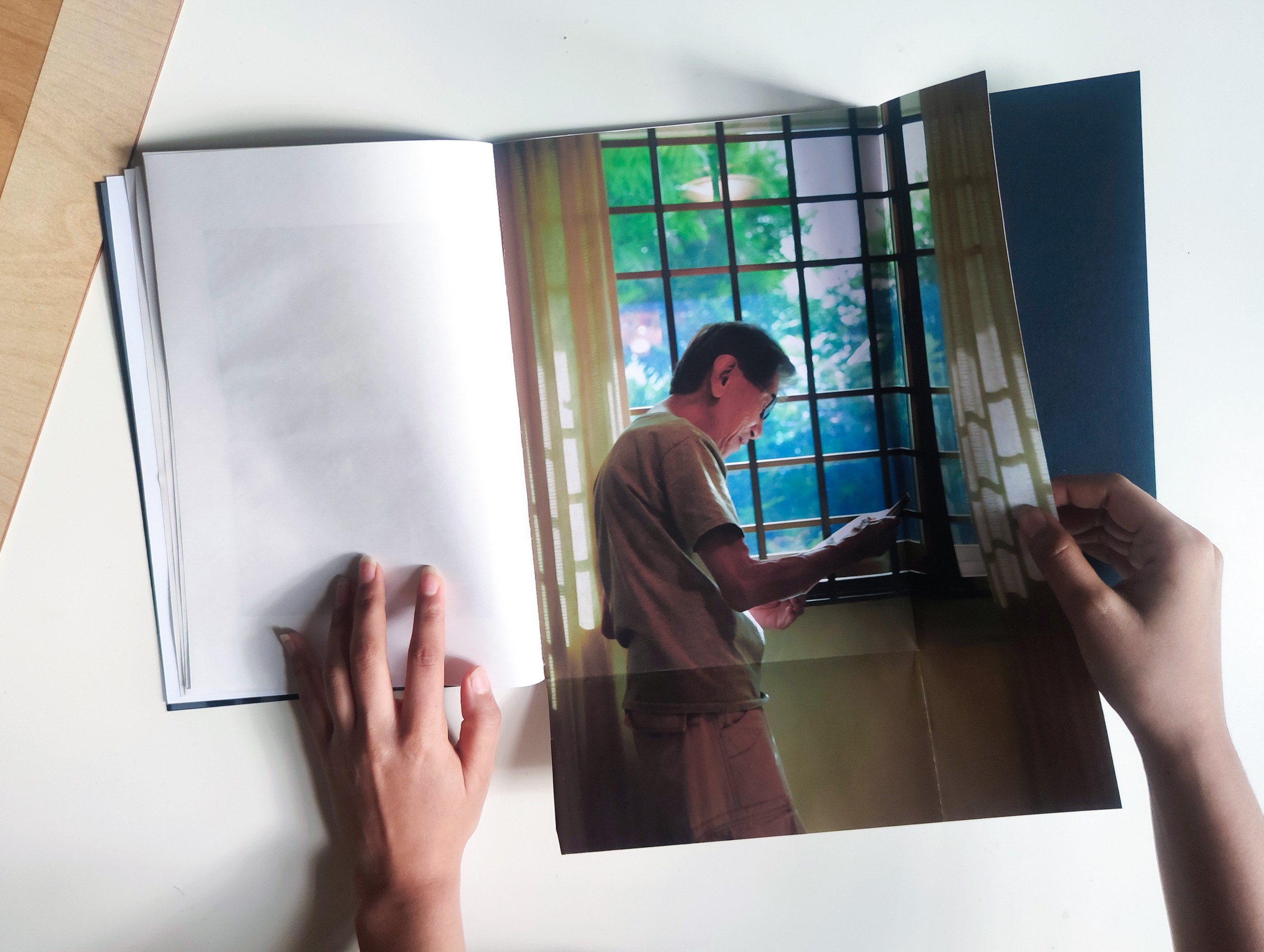 Photographs of a book