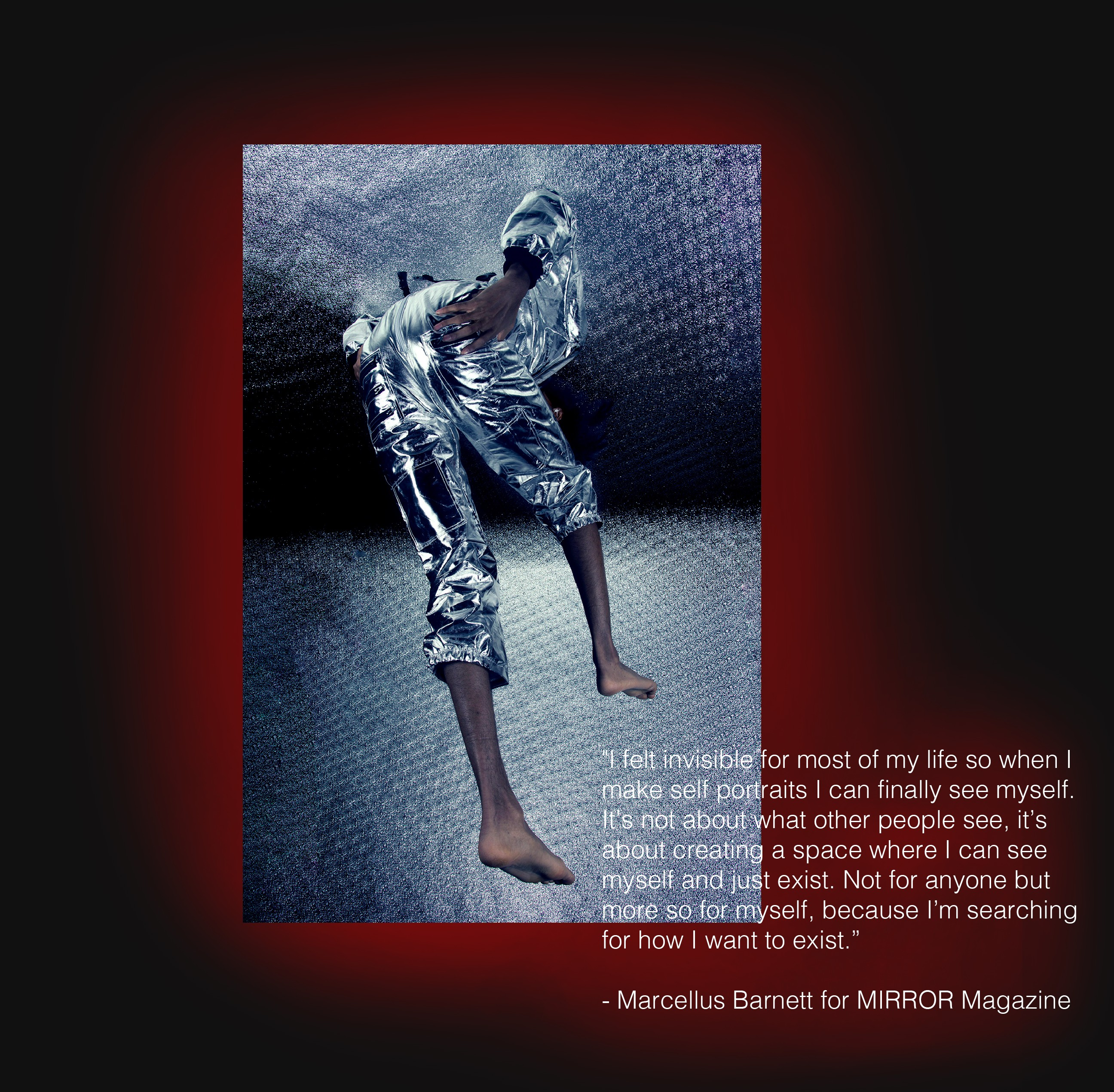 Editorial Photography with select quote from interview with Marcellus Barnett