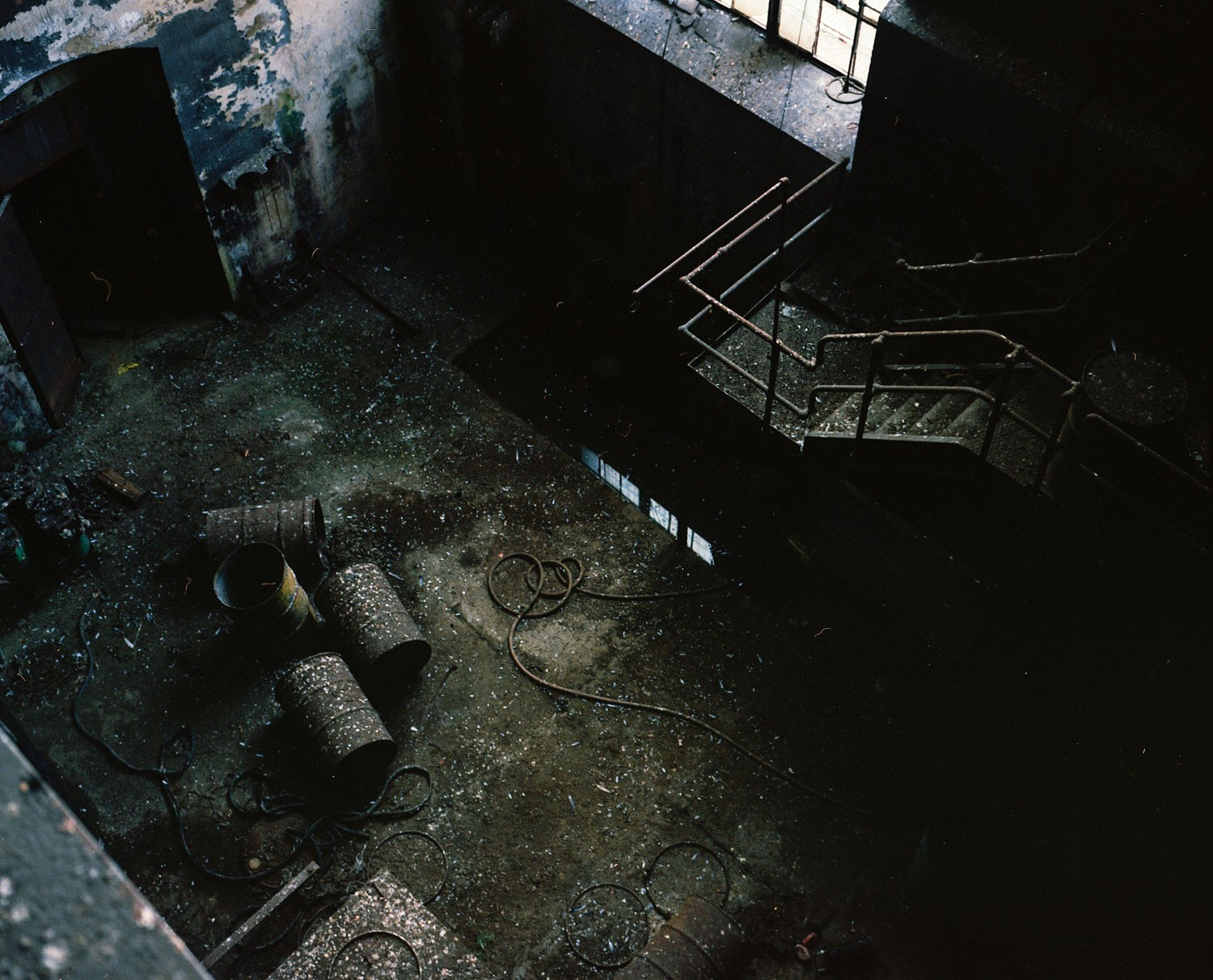 A photograph of the ground level at Gould Street Generating Station, just months after its closure.