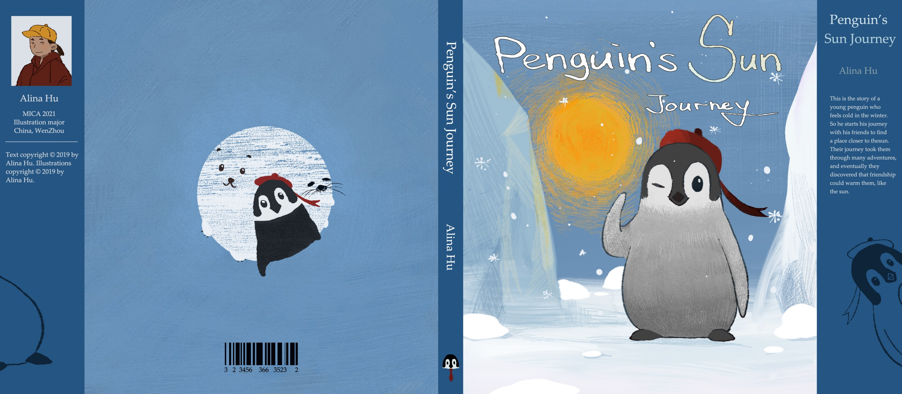 Children's book about a penguin trying to find a place where near the sun.