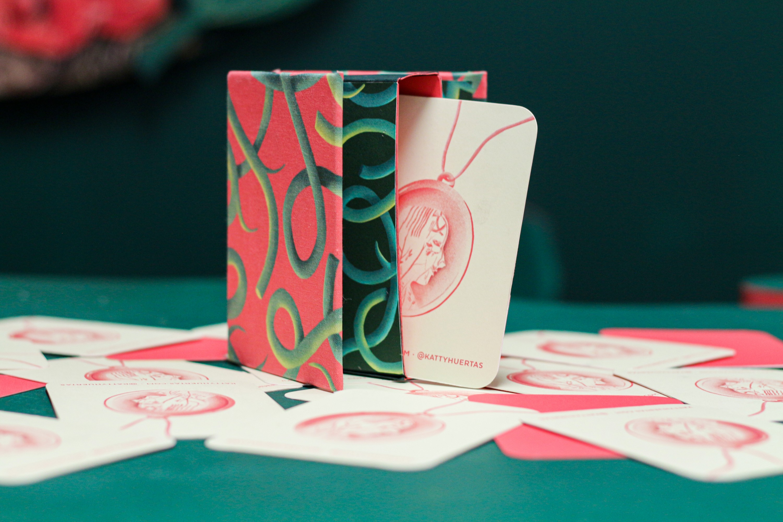 card in decorative box