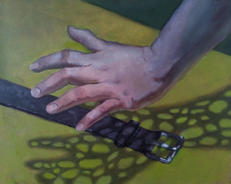 hand over belt