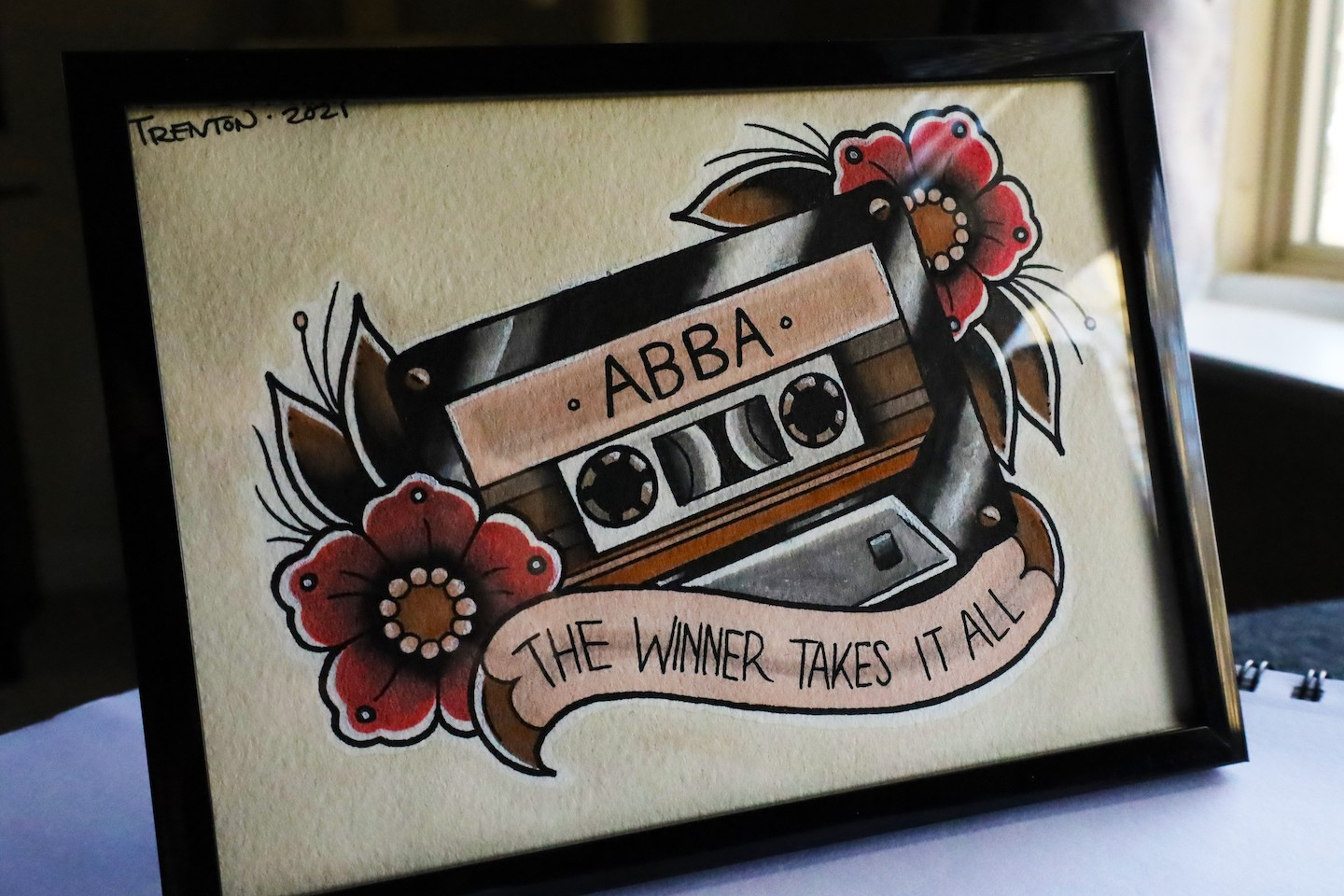 A casette tape dedicated to ABBA.