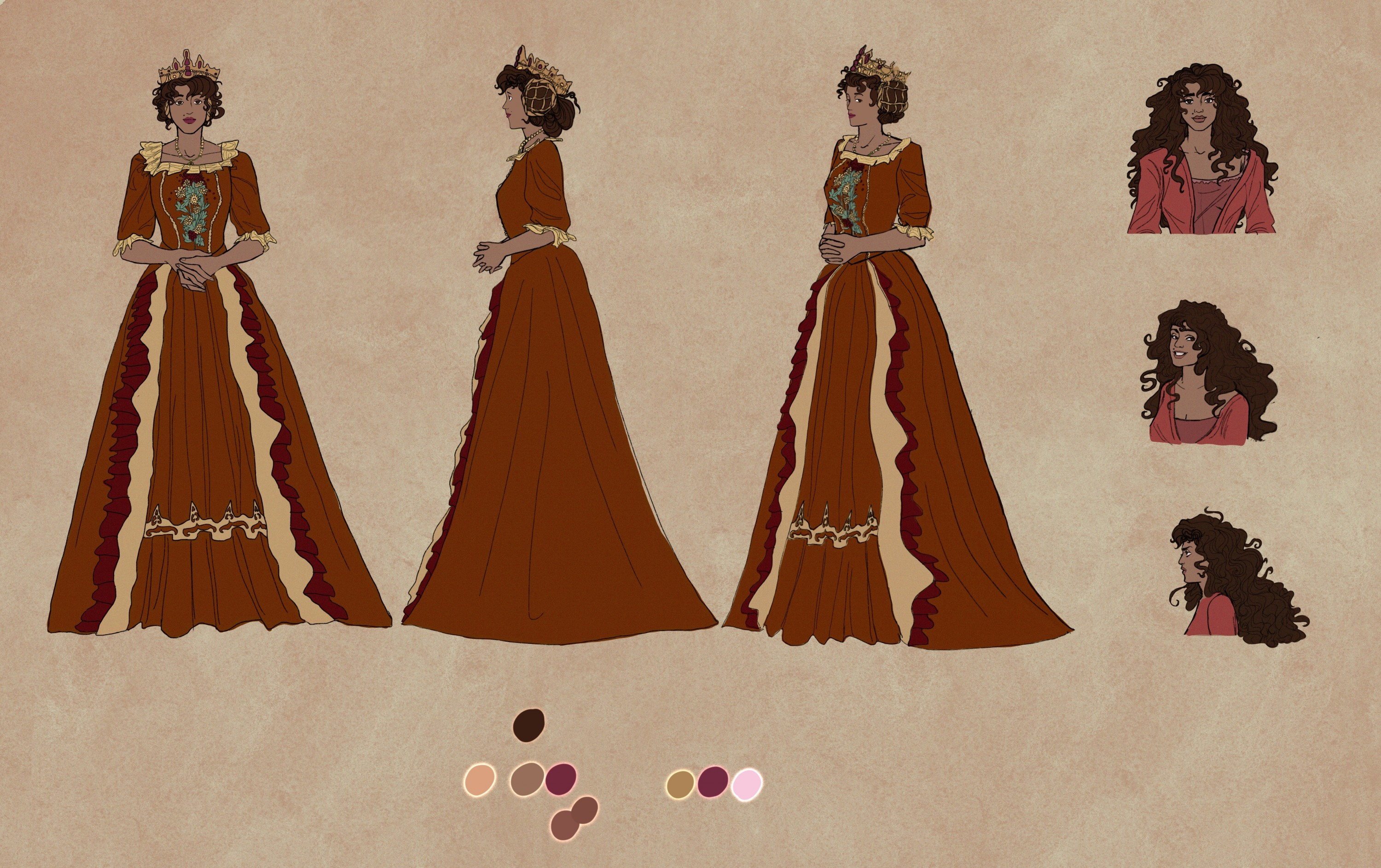 Concept work and additional drawings for the characters from Sunlight.