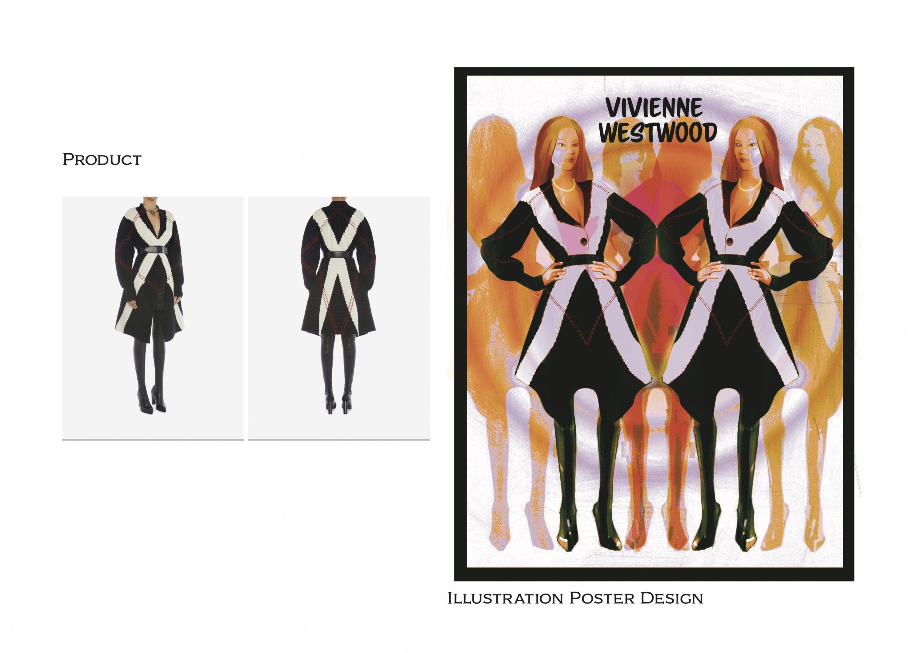 Fashion Posters created to tribute to my favorite looks from different fashion brands.