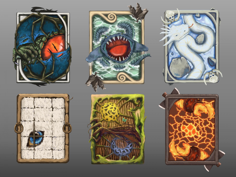 Card-back designs for digital card game