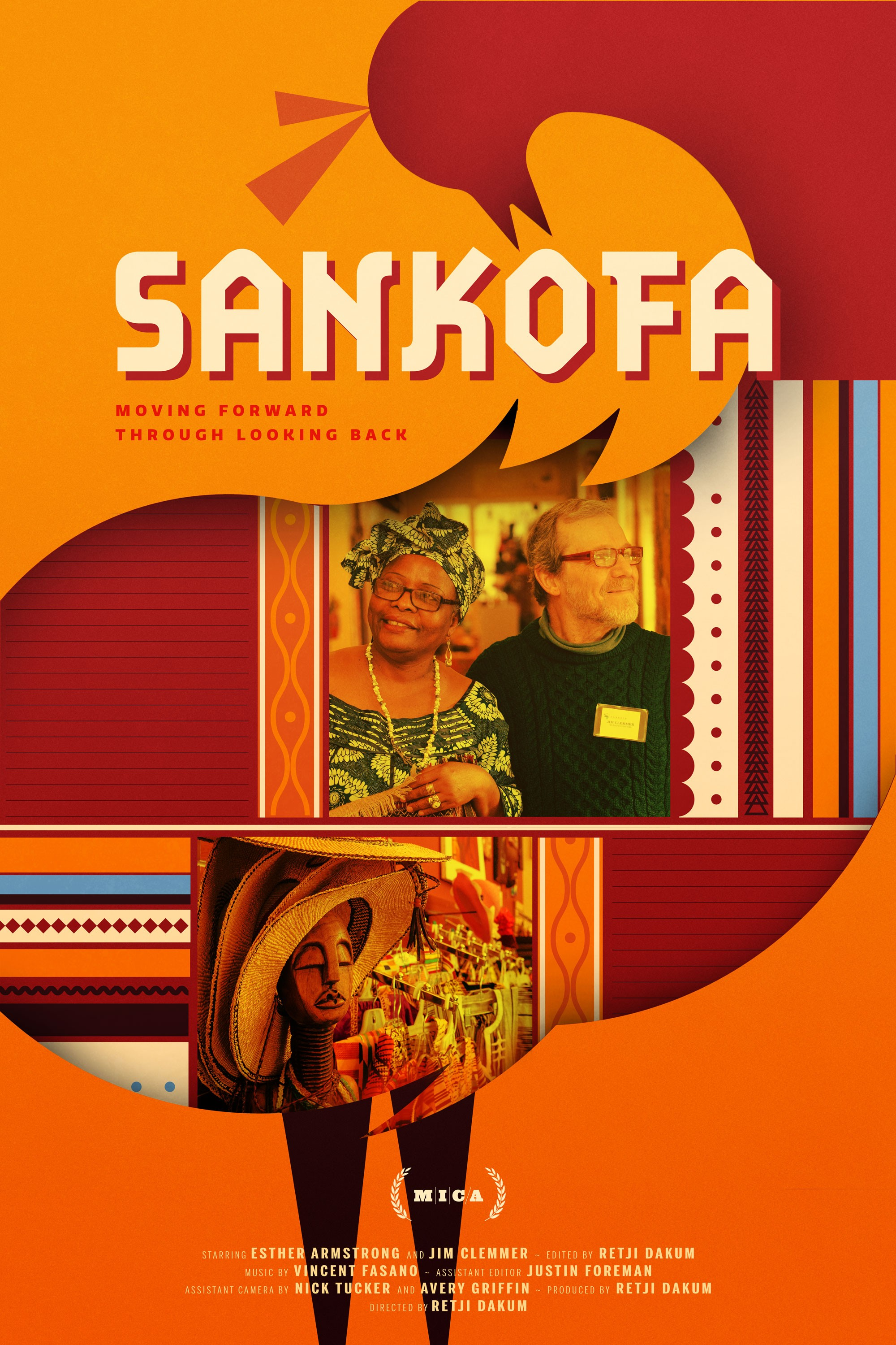 A Nigerian filmmaker living in America for the past ten years searches out spaces that connect him to his African roots. He finds Aunty Kiki, a business-minded Ghanaian woman, and Uncle Jim, an American man who is passionate about African tribal art, who