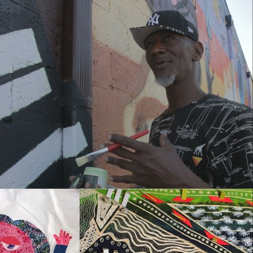 Eager Quilters, artist Ronald Rucker, artwork by: Brennan Cox, Eager Quilters, and Zoey Howell