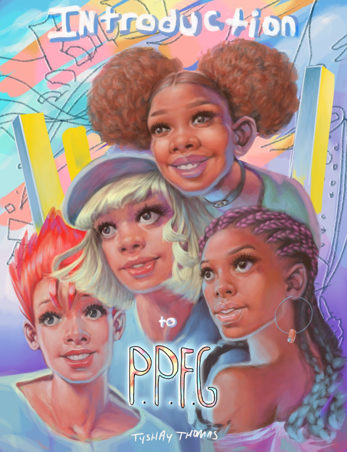 P.P.F.G. is a world building and entertainment project that utilizes different forms of presentation.