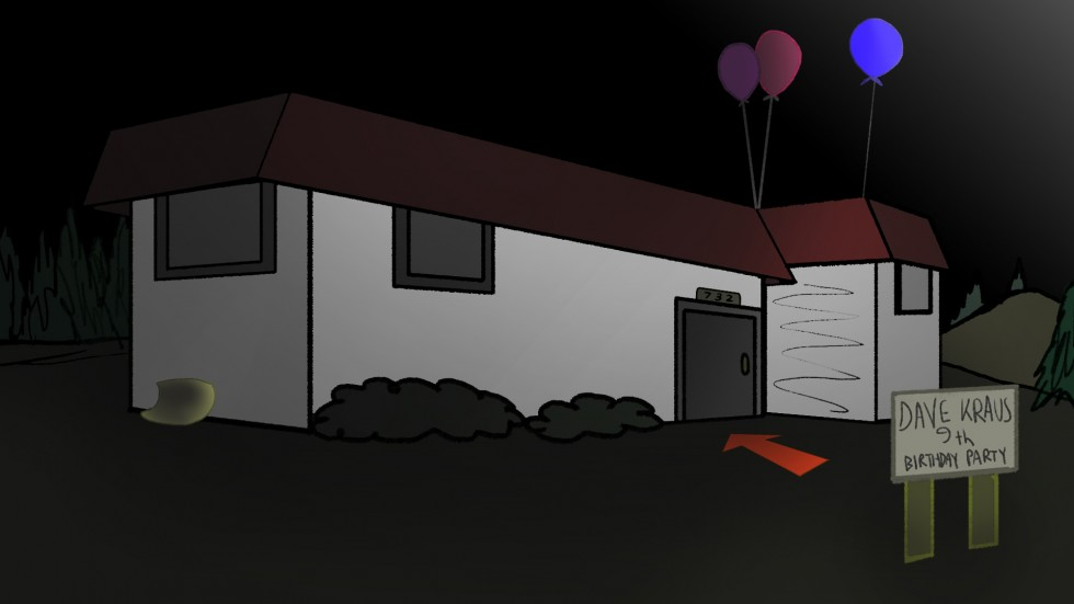 One night, a young boy named Dave stood face to face with a demon from hell. That night was unfortunately on his ninth birthday.  Based on a dialogue heavy script written by me and my friend Belle Ager, I decided to use the short screenplay for my final S