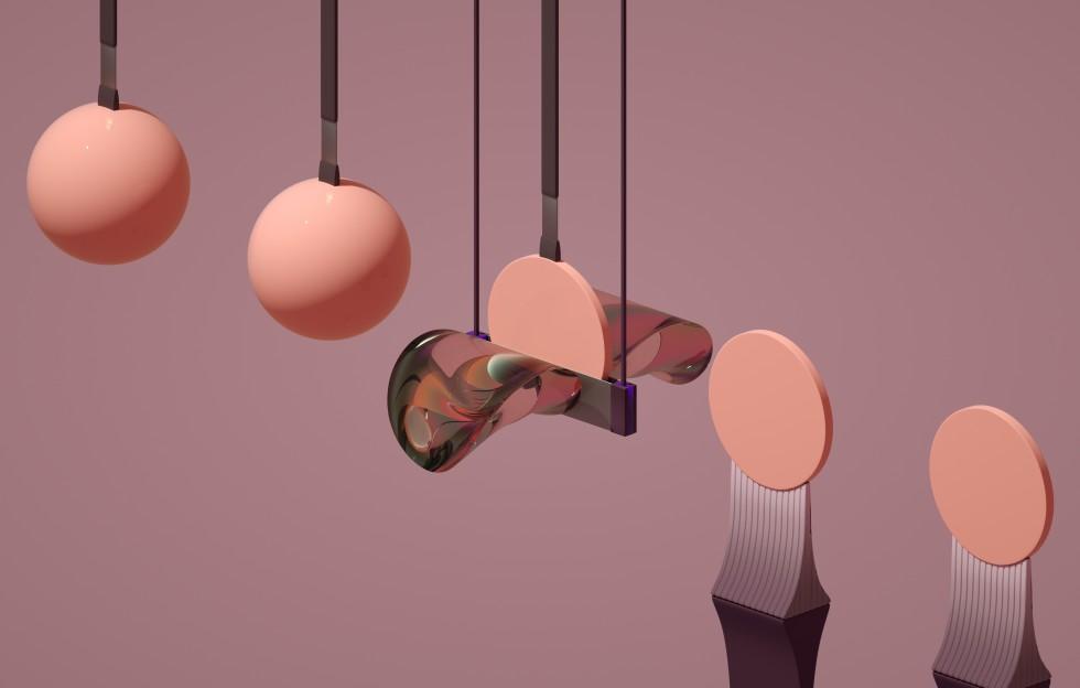 pendulum of spheres