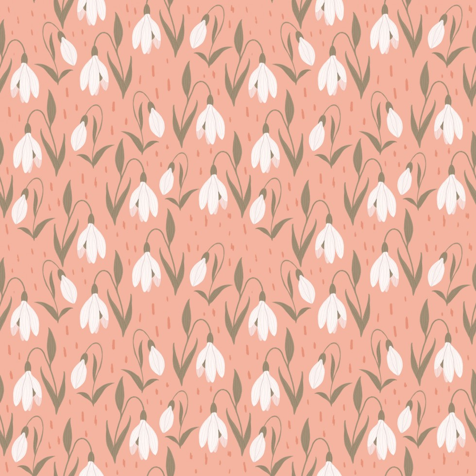 Three snow drop patterns in three different color palettes.