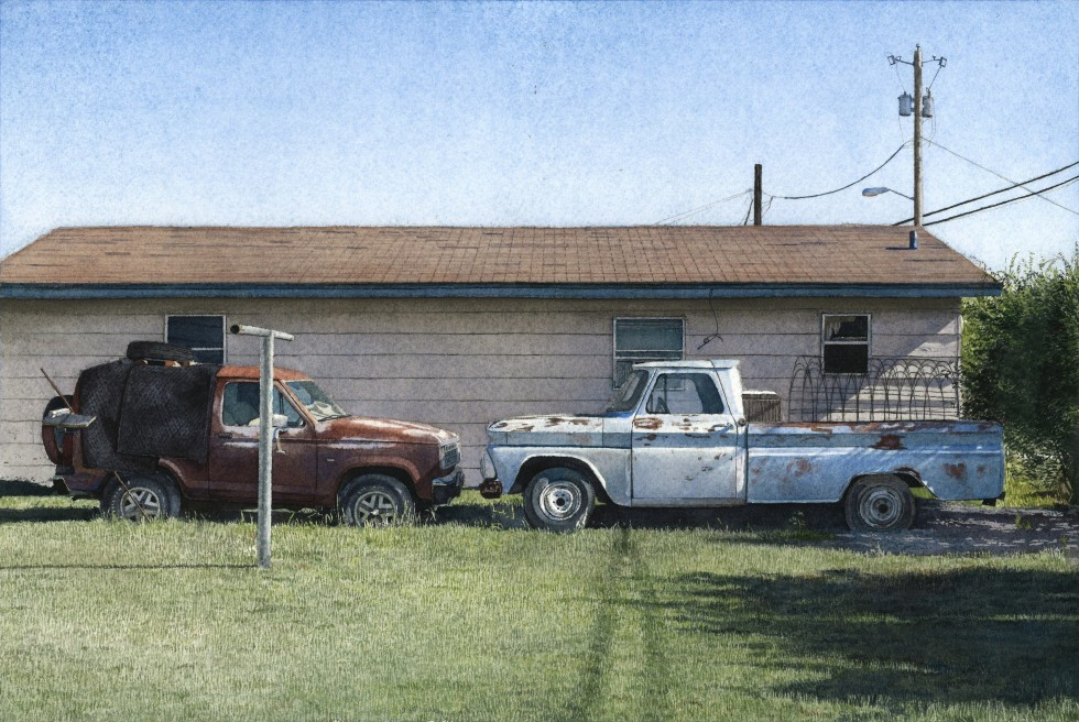 Two Trucks in Fort Stockton, TX
