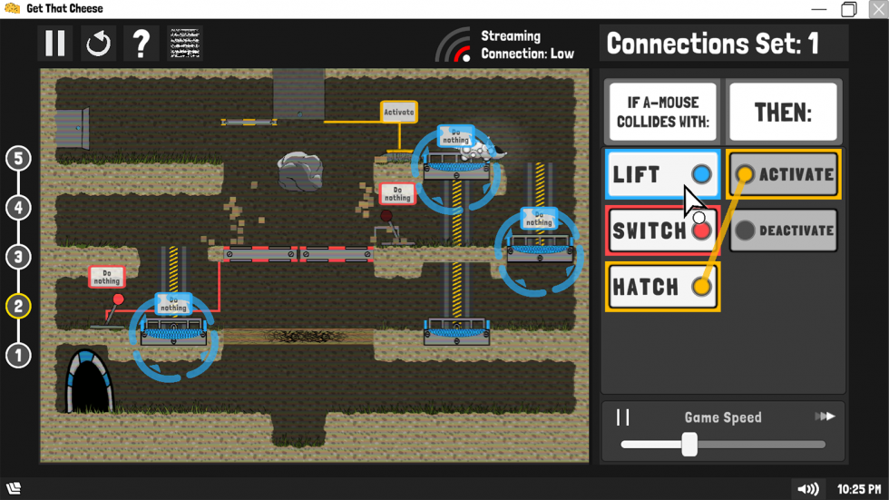Image of Automouse gameplay within the second level.