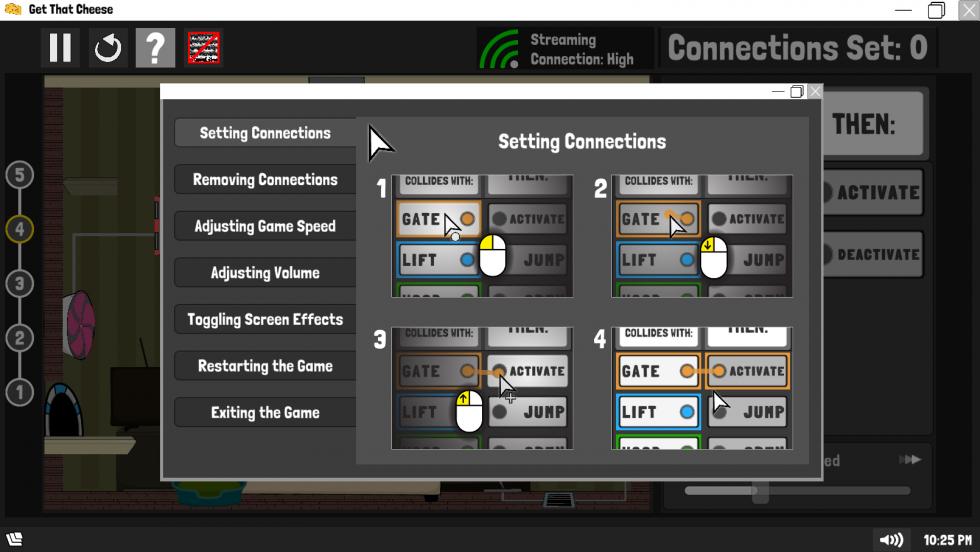 Image of Automouse help menu.