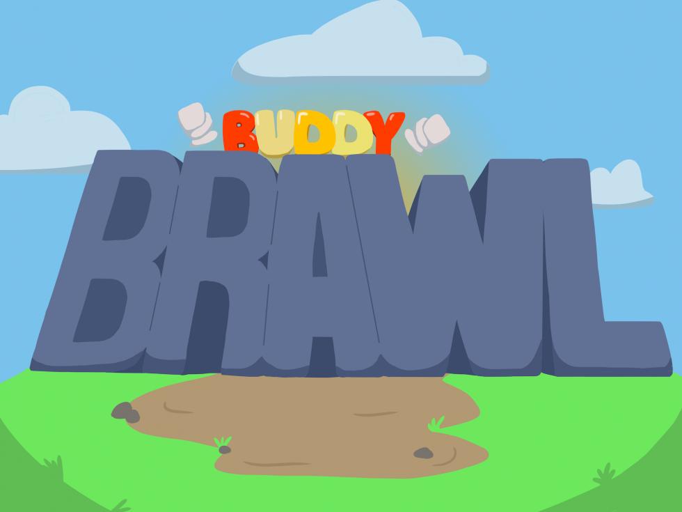 Image of Buddy Brawl's title screen art