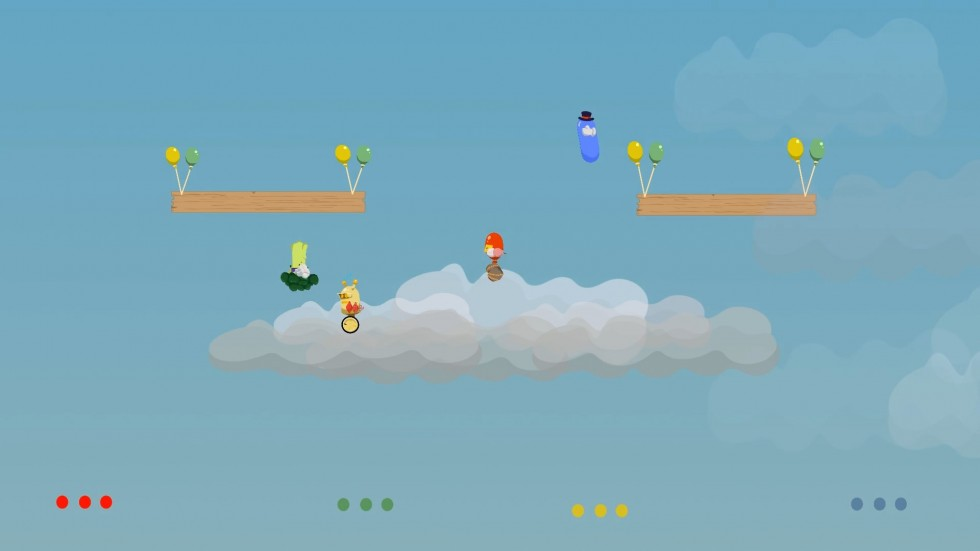 Image of Buddy Brawl gameplay within the first level