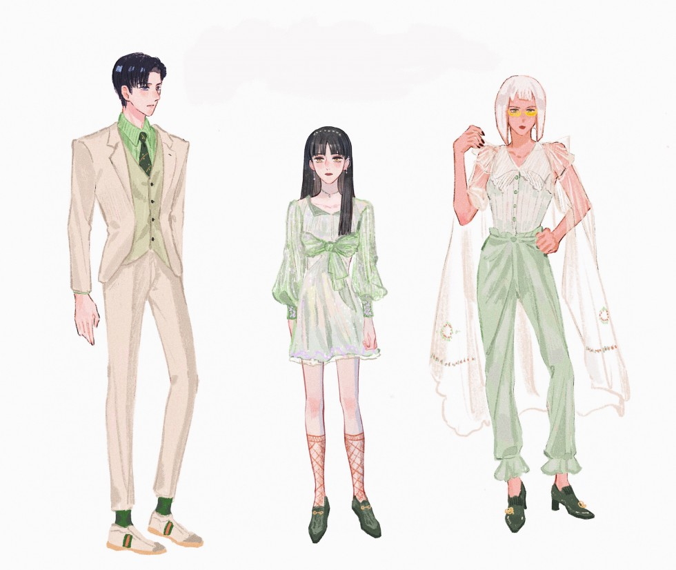 paper dolls with 3 sets of clothes on