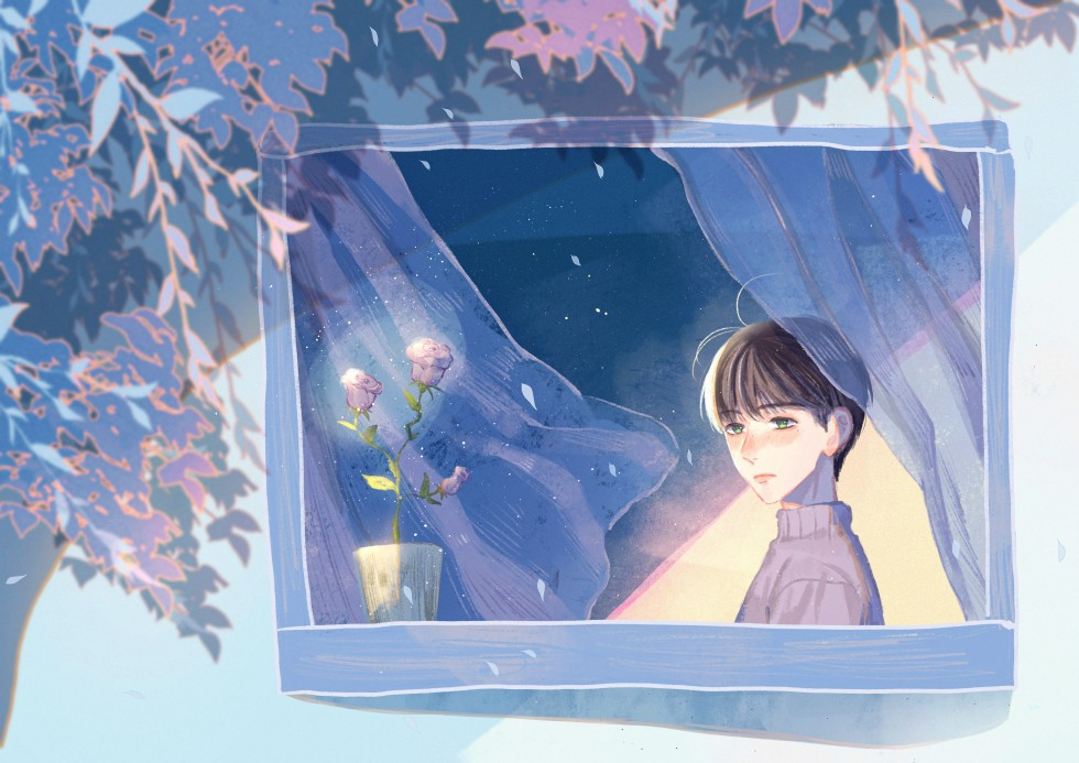 A tragic love story between a boy and the fairy he found in the rose.
