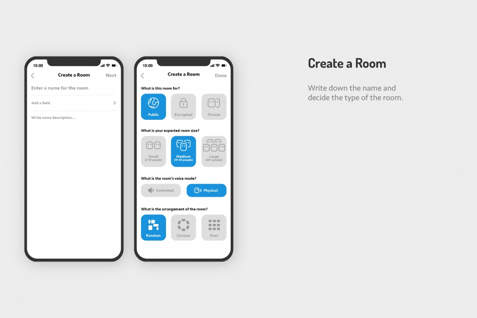 Cellphone Mockups of how this application work.