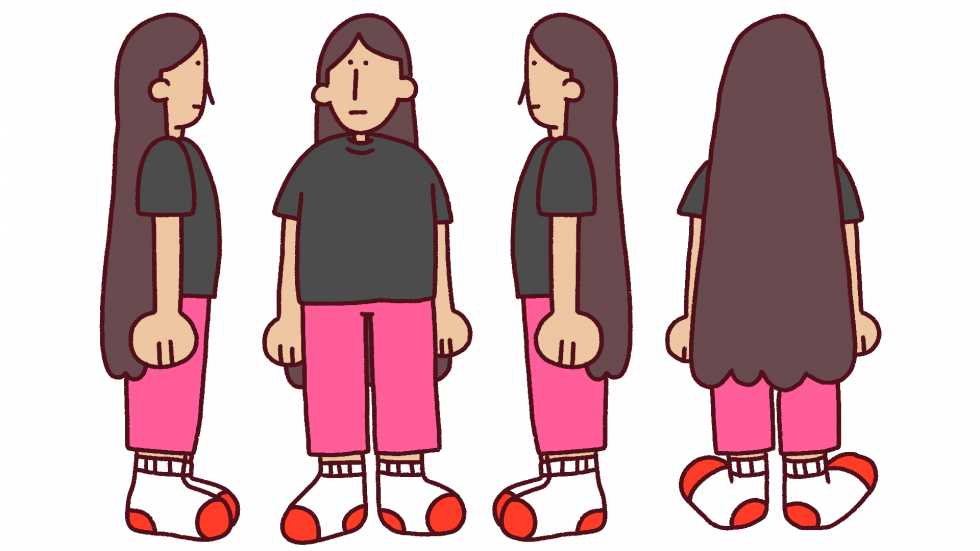 Character turnaround of a side character, Mom.