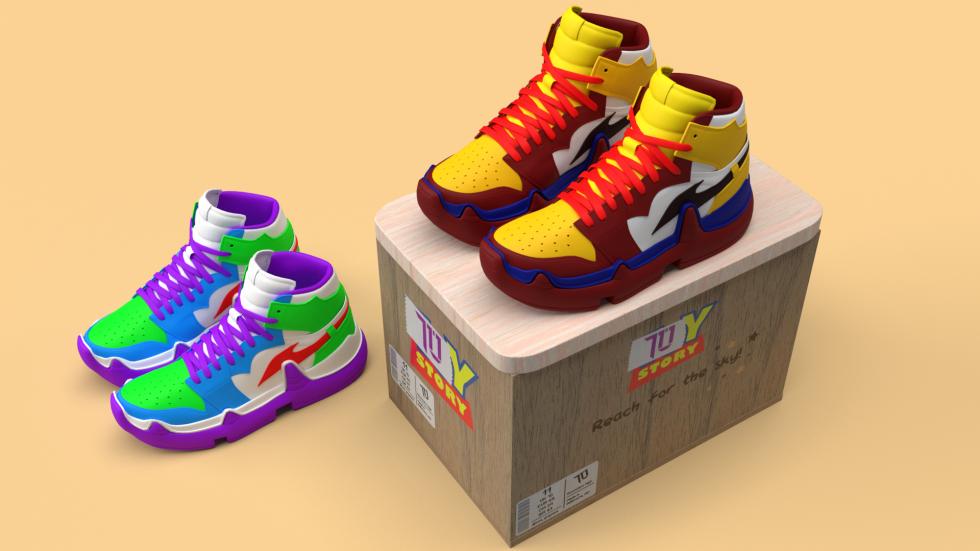 When a shoe box becomes a toy box