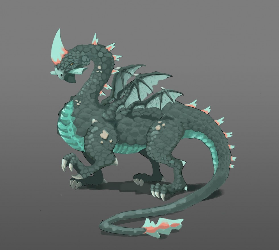Concept designs for various dragons