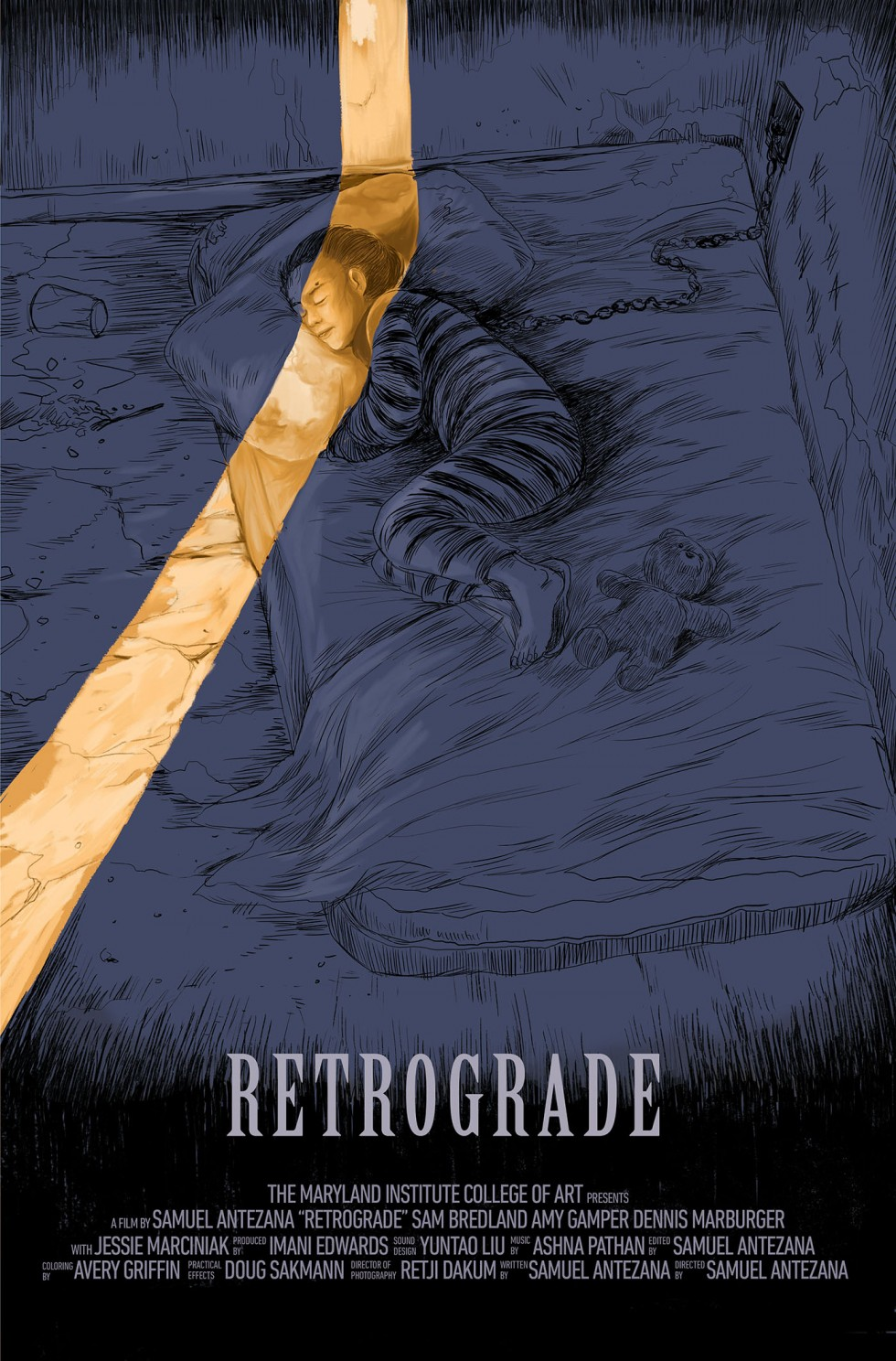 RETROGRADE Poster. Illustration by Dani Go.
