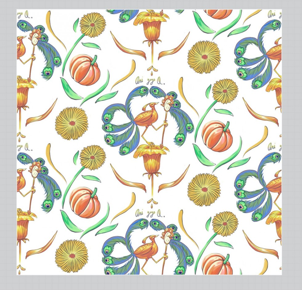 a series of pattern designs.