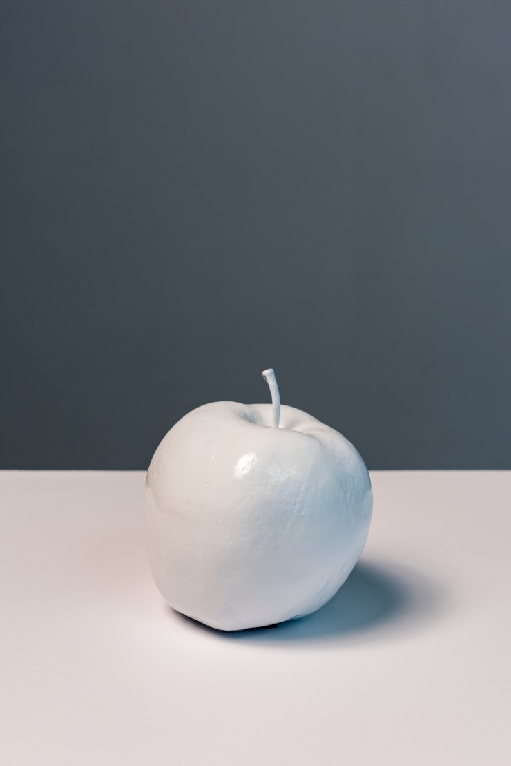 a white apple