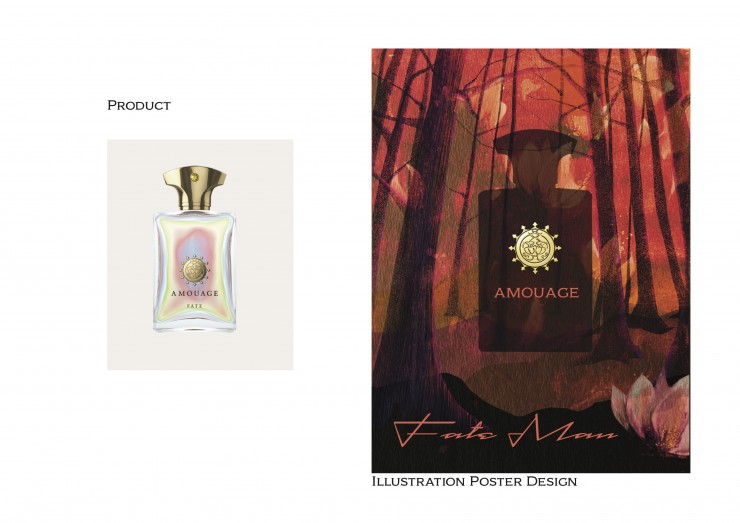 Posters created to tribute to my favorite fragrance brand Amouage.