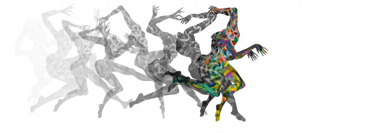 Hand-painted Paper cutouts converted to animation, digital work