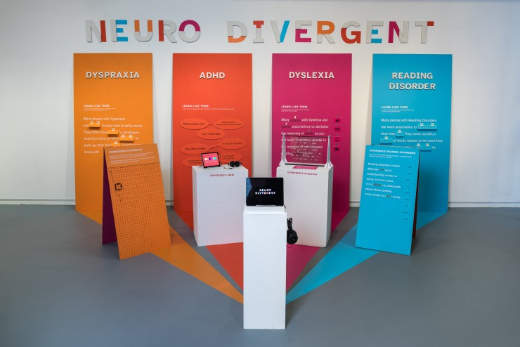 Image of the full exhibition, everything in the exhibition is interactive and experiential.