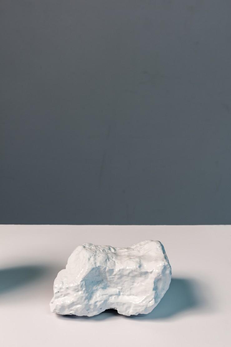 a white rock