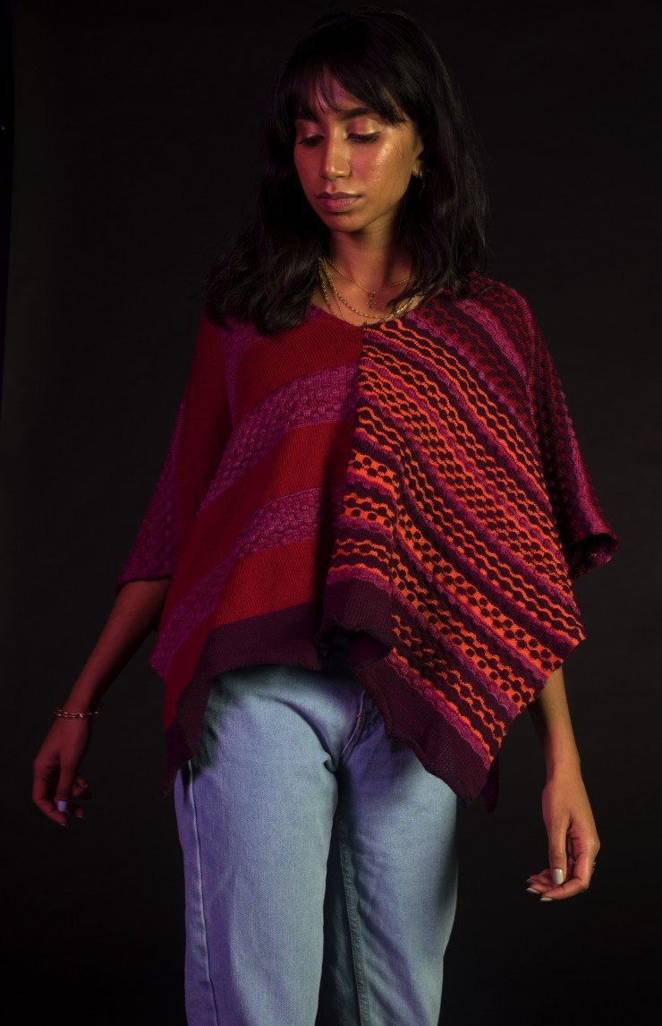 Machine Knitted poncho