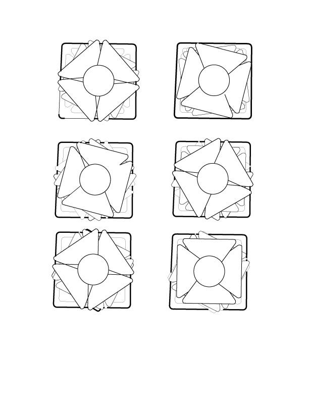 Digital Sketch of 6 Possible Combinations