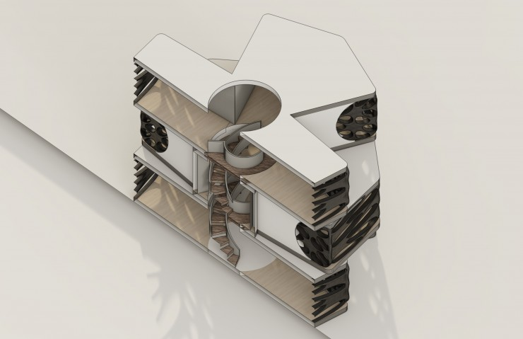 3D render of a Section Perspective