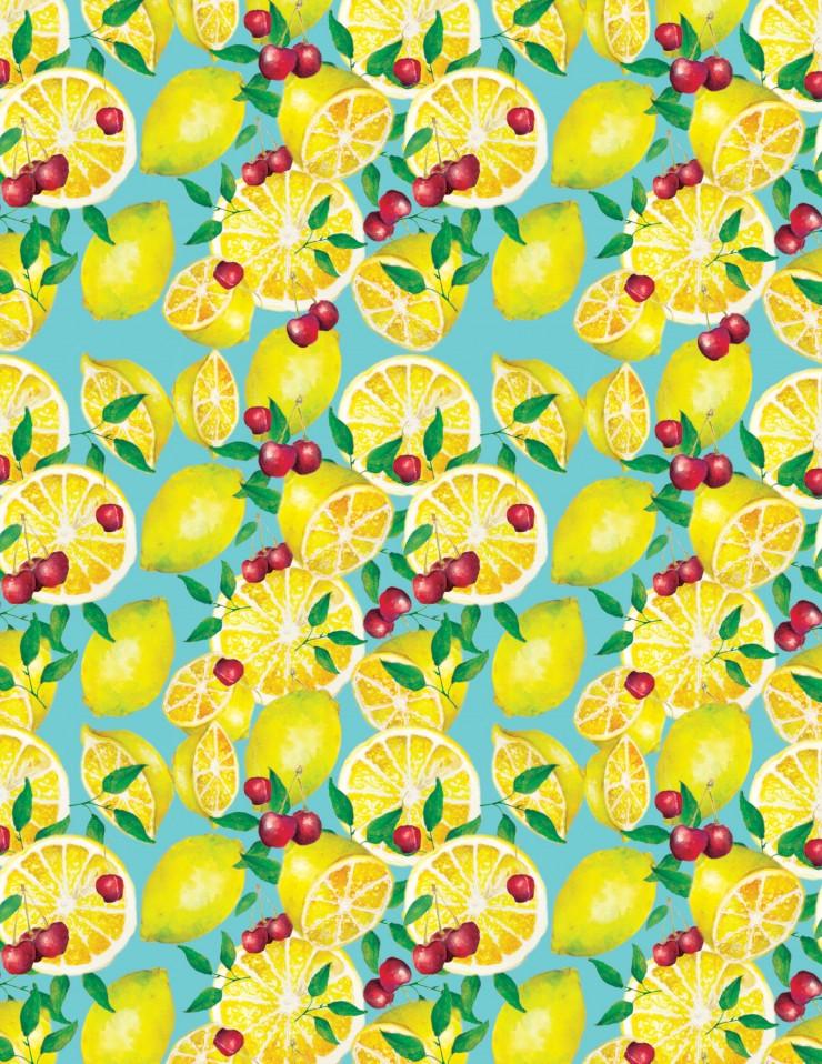 Fruit Patterns showing lemons.