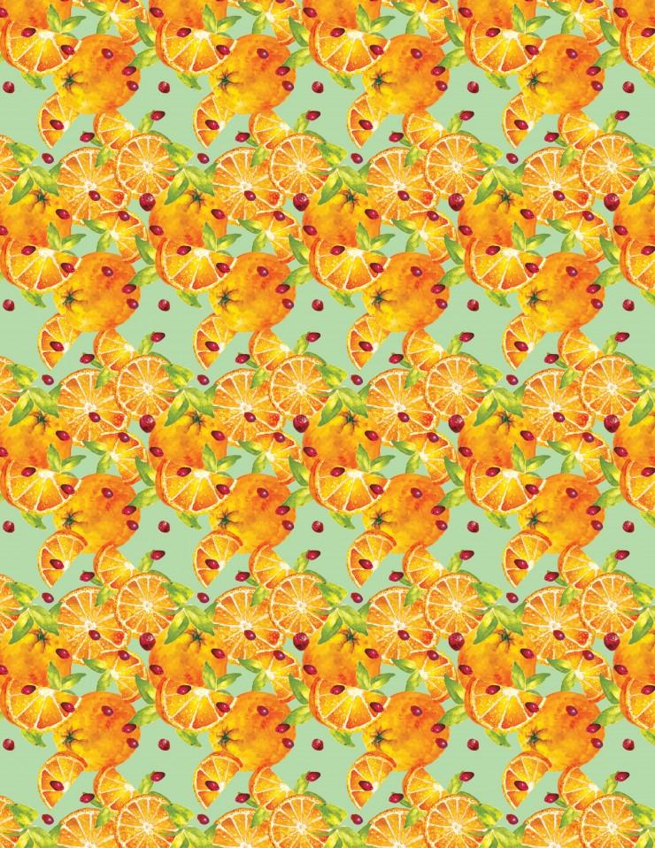 Fruit Patterns showing oranges.