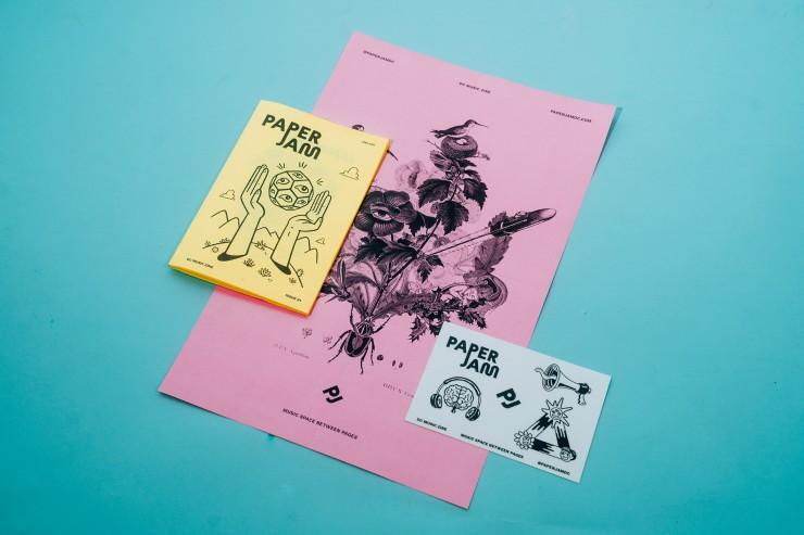 PaperJam DC Music Zine, Poster, & Stickers